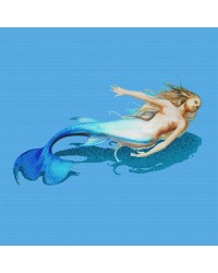 Blue & Flesh Tones Mermaid